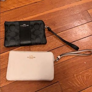 Coach Wristlet Bundle white + black